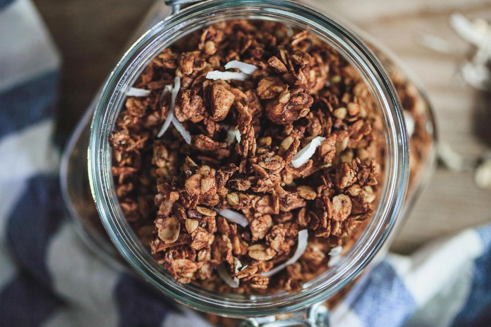 Chocolate Buckwheat Loaded Granola Olive Mango