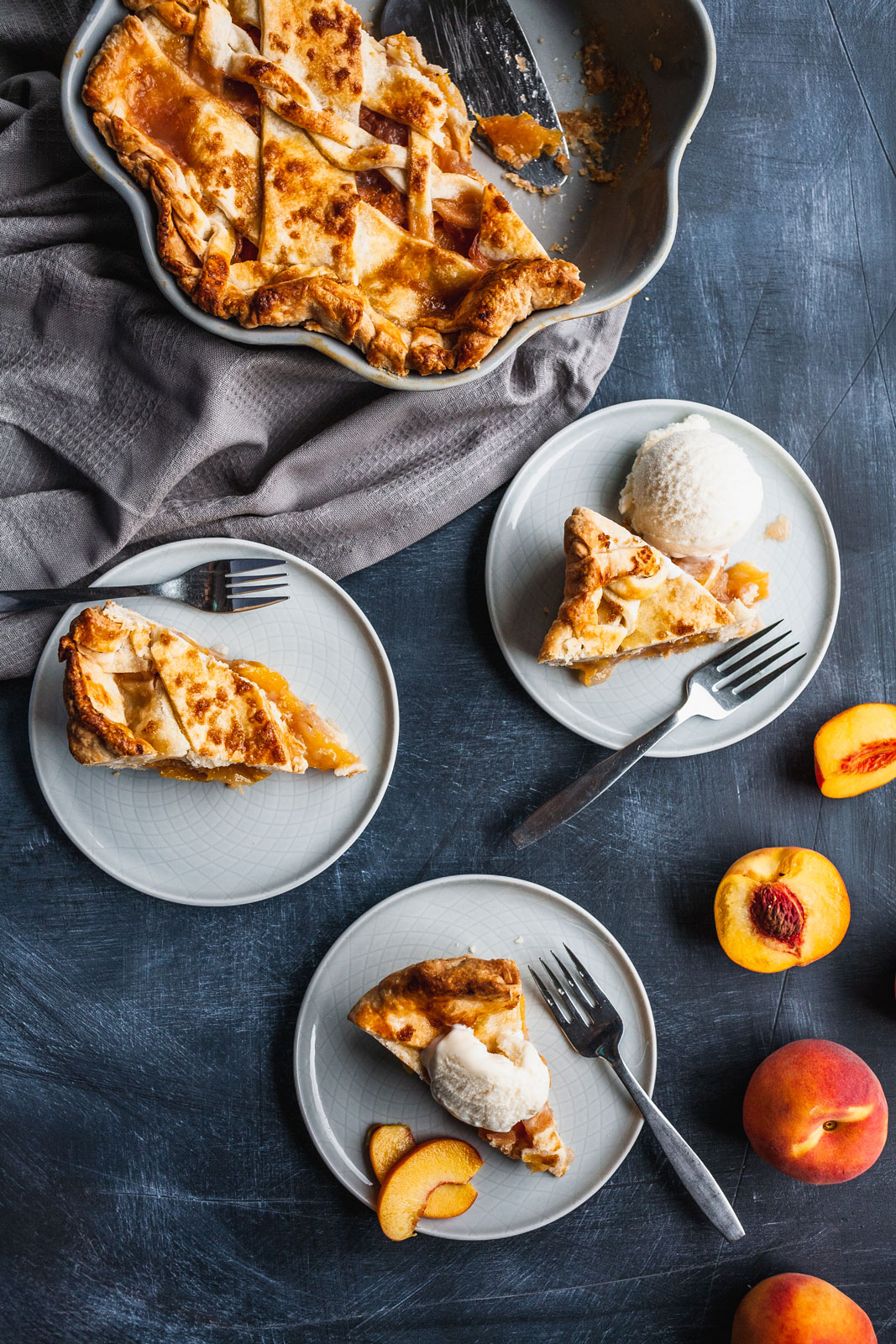 Rum And Bitters Peach Pie