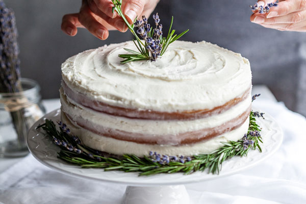 Rosemary Lavender Cake With A Lavender Buttercream