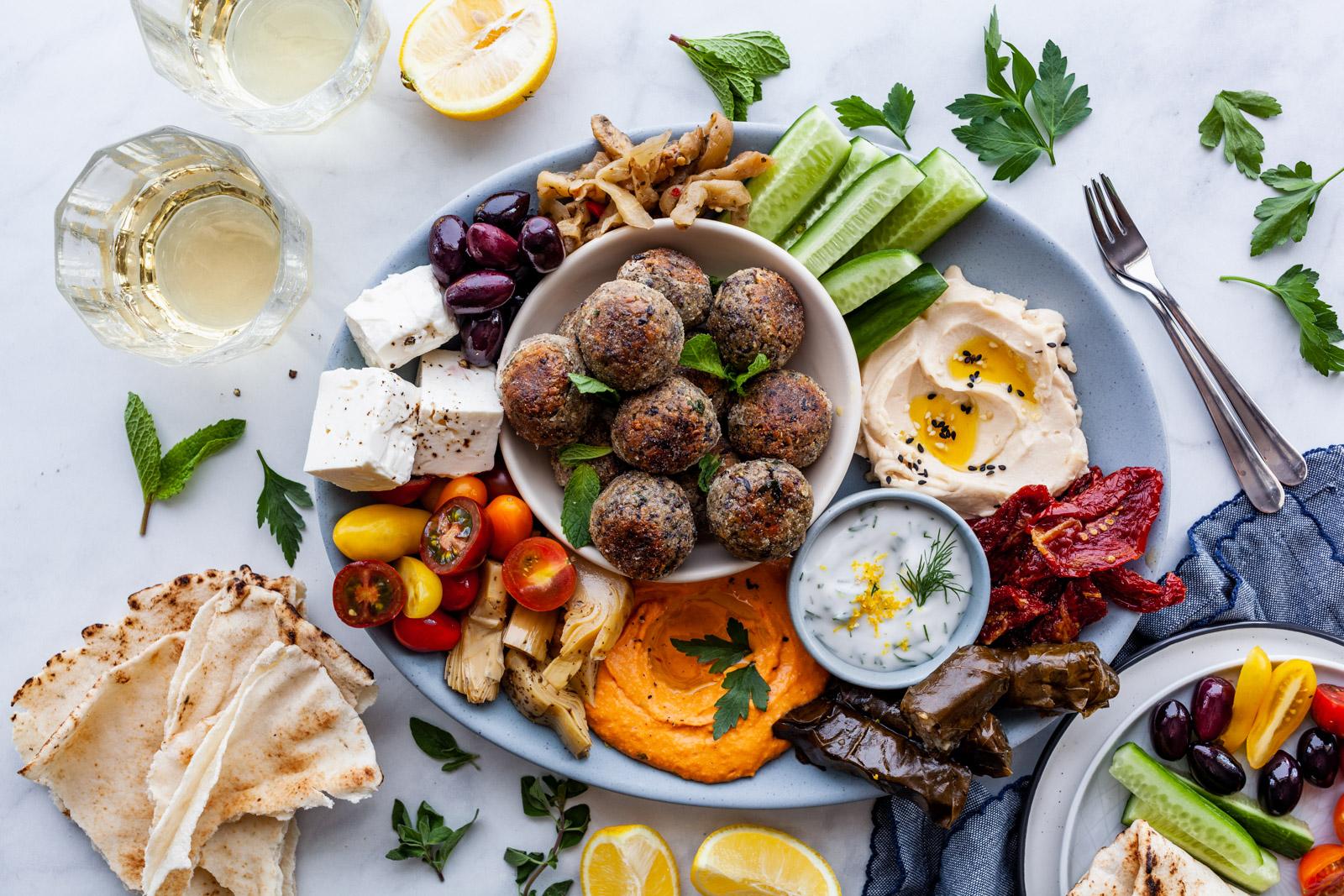 Vegan Greek Meatballs Keftedakia Olive Mango